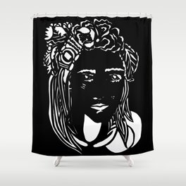 Paper Cut - Woman No. 1 --2 Shower Curtain
