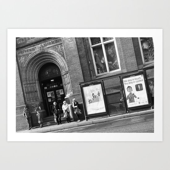 York #31 (Black and White) Art Print
