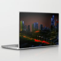 cityscape Laptop & iPad Skins featuring Cityscape by Jonas Ericson