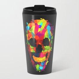 Meduzzle: Colorful Geometry Skull Travel Mug