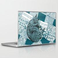 hobbes Laptop & iPad Skins featuring Blue Hobbes by Maritsa Patrinos