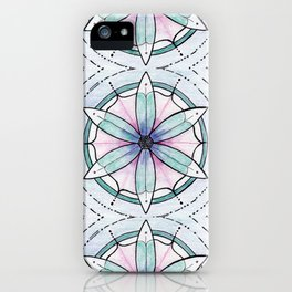 Morse Code Mandala iPhone Case