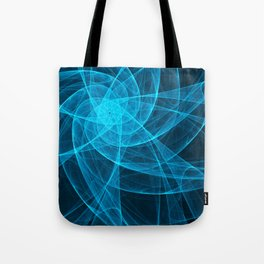 Tulles Star Computer Art in Blue Tote Bag