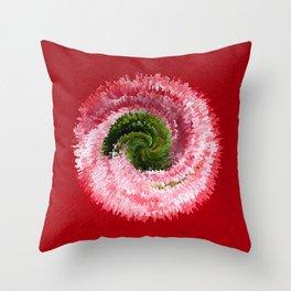 Flower globe abstract Throw Pillow