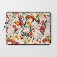 Floral Fox Laptop Sleeve