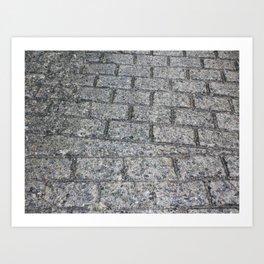Pressed concrete pavers Art Print