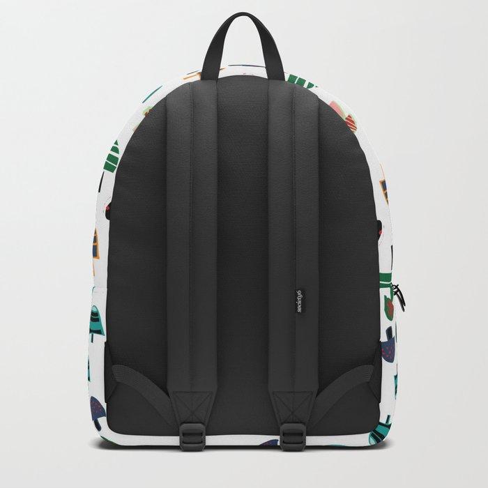 Cute Mushroom white Backpack