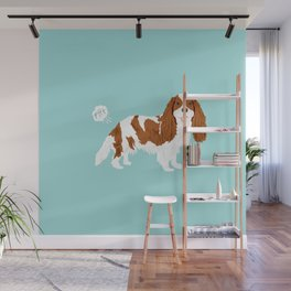 Cavalier King Charles Spaniel blenheim funny farting dog breed gifts Wall Mural