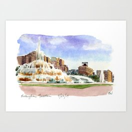 Buckingham Fountain - Chicago Art Print