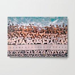 on the sea wall Metal Print