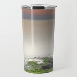 """Green, white and red beach"" Travel Mug"