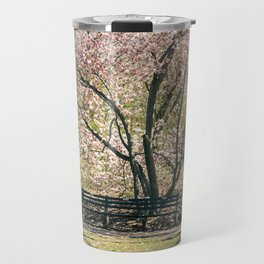 Magnolia's Bloom in Central Park Travel Mug