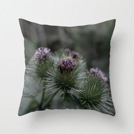 Wild burdock Throw Pillow