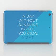 A Day Without Sunshine. iPad Case