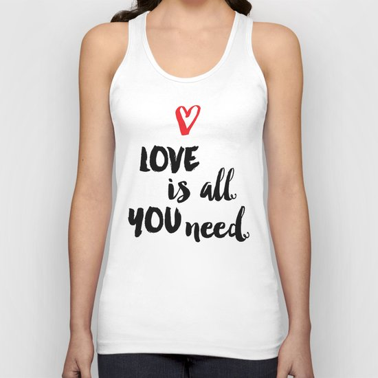 Love is all you need script Unisex Tank Top
