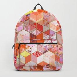 Gold and Garnet Kaleidoscope Cubes Backpack
