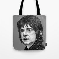 the hobbit Tote Bags featuring HOBBIT by zinakorotkova