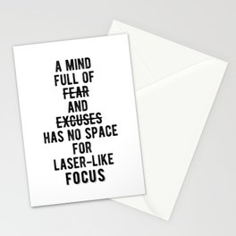 Inspiring - Laser-Like Focus Quote Stationery Cards