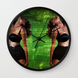 Double Trouble Vamp Girl Wall Clock