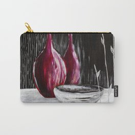 Black white still life painting Carry-All Pouch