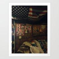 cabin Art Prints featuring Cabin by Francesca Bryk