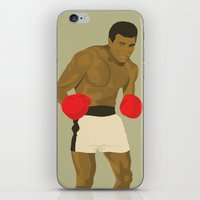 ali gulec iPhone & iPod Skins featuring Cool image of a boxer by drawgood