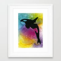 killer whale Framed Art Prints featuring Killer whale! by Ann-Charlotte K