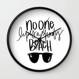 Shady Beach Wall Clock