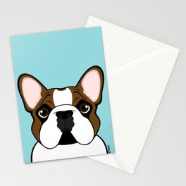 Frenchie - Fawn Pied Stationery Cards