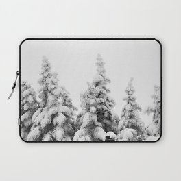 Snow Covered Pines Laptop Sleeve