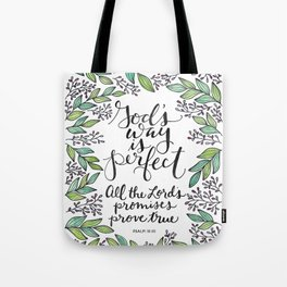 God's Way Is Perfect Tote Bag