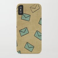 letter iPhone & iPod Cases featuring Letter by sinonelineman
