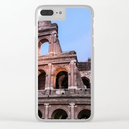 Colosseum at Night Clear iPhone Case