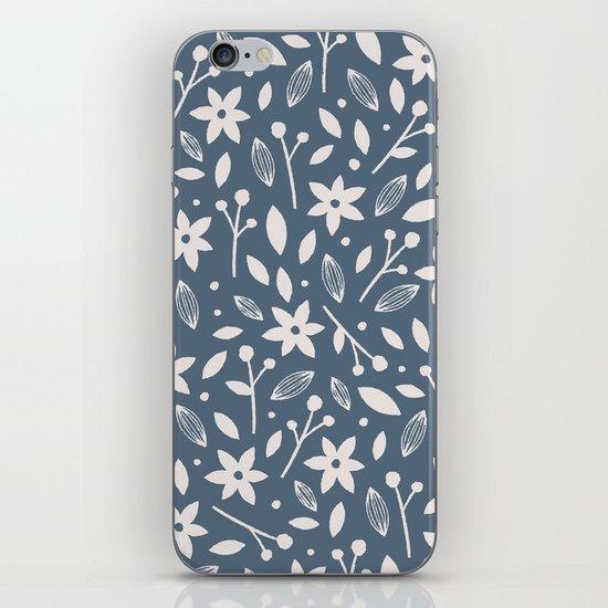 Winter Bloom - in Navy iPhone & iPod Skin