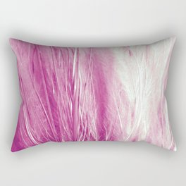 Feather Grass Pink Rectangular Pillow