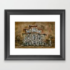 Townhouse Living Framed Art Print