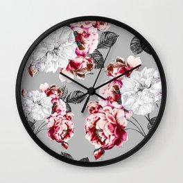 Flora temptation - twilight Wall Clock