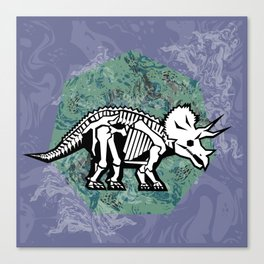Triceratops Fossil Canvas Print