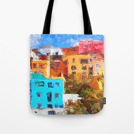 Gunajuato colorful buildings Tote Bag