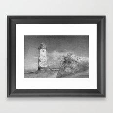 The wrecks Framed Art Print