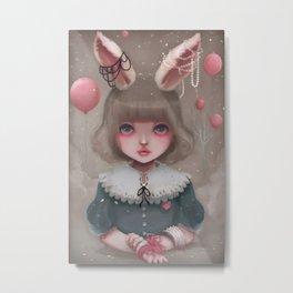 Juliette, balloons & pearls... Metal Print