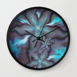Aquafleur Fractal Wall Clock