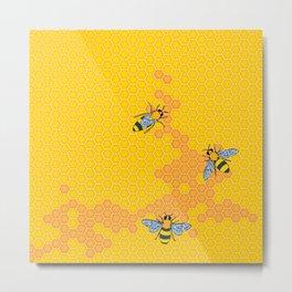 HoneyBees 1 Metal Print