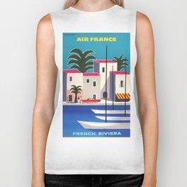 Vintage poster - French Riviera Biker Tank