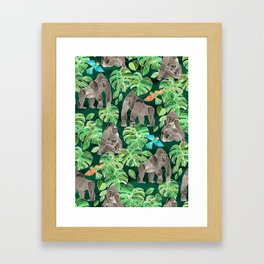 Gorillas in the Emerald Forest Framed Art Print