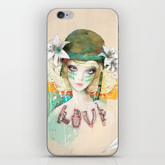 War girl iPhone & iPod Skin