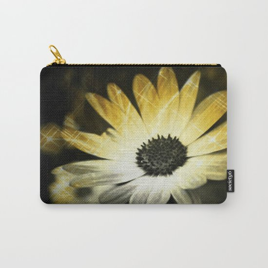 Sparkle Daisies Carry-All Pouch