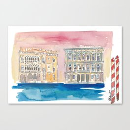 Venice Italy Palace On Canal Canvas Print