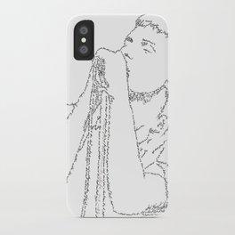 Ian Curtis WordsPortrait iPhone Case