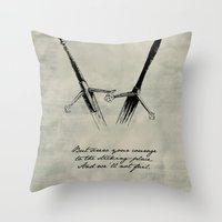shakespeare Throw Pillows featuring Macbeth - Shakespeare by pithyPENNY